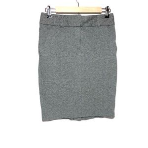 LOFT Gray Stretch Cotton Mini Pencil Skirt